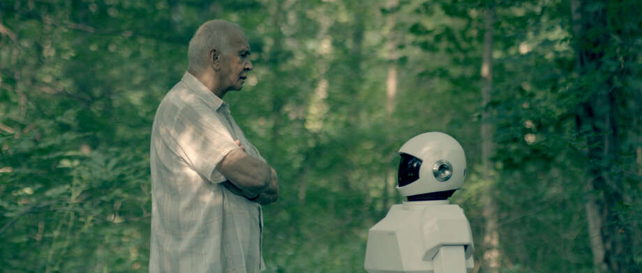 "Frank Langella is a man in the early stages of dementia, and he's bored stiff, when his son brings him a robot aide in ""Robot & Frank."" Photo: Samuel Goldwyn Films"