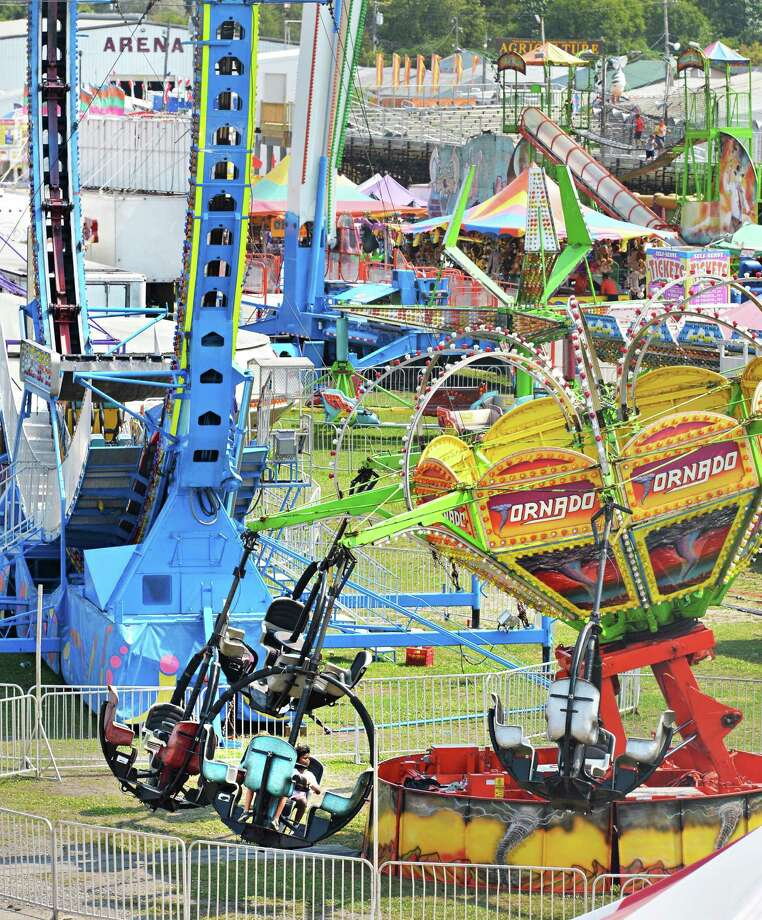 The Fonda Fair in full swing at the Montgomery County Fairgrounds in Fonda Thursday Aug. 30, 2012.  (John Carl D'Annibale / Times Union) Photo: John Carl D'Annibale / 00019043A