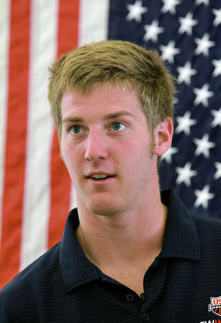 Jimmy Feigen meets with fans at the San Antonio Humane Society on August 30, 2012. Photo: Tom Reel, Express-News / ©2012 San Antono Express-News