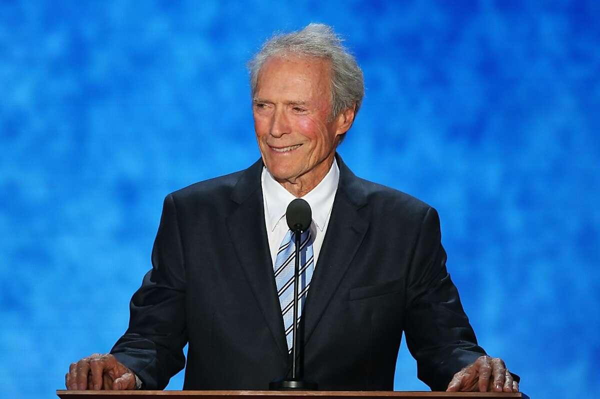 TAMPA, FL - AUGUST 30: Actor Clint Eastwood speaks during the final day of the Republican National Convention at the Tampa Bay Times Forum on August 30, 2012 in Tampa, Florida. Former Massachusetts Gov. Mitt Romney was nominated as the Republican presidential candidate during the RNC which will conclude today.