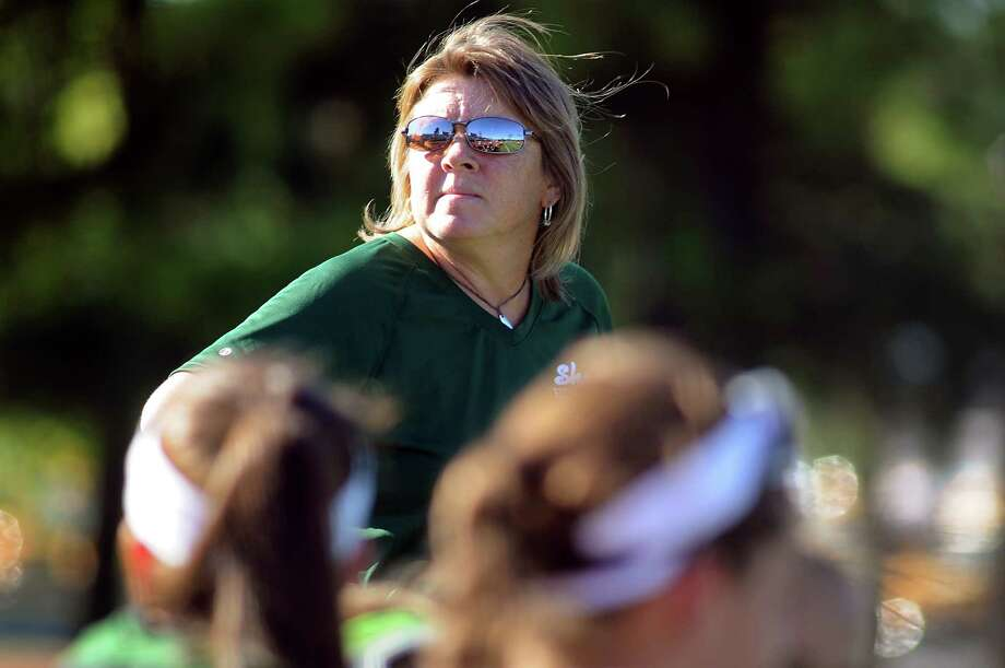Coach Jeanne Frevola and her field hockey team scrimmage on Wednesday, Aug. 29, 2012, at Shenendehowa High in Clifton Park, N.Y. (Cindy Schultz / Times Union) Photo: Cindy Schultz / 00019041A