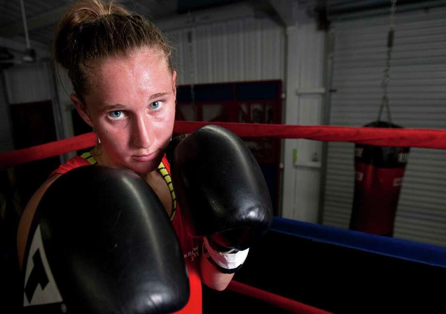 Already successful as an amateur boxer in Louisiana, Virginia Fuchs, 24, was inspired by sparring partner Marlen Esparza's Games participation to circle the Brazil Olympics in 2016 on her calendar. Photo: Cody Duty / © 2011 Houston Chronicle