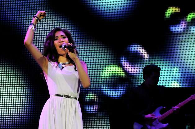 "Jessica Sanchez performs during the ""American Idol Live Tour 2012"" on Thursday, Aug. 30, 2012, at Times Union Center in Albany, N.Y. (Cindy Schultz / Times Union) Photo: Cindy Schultz / 00018952A"