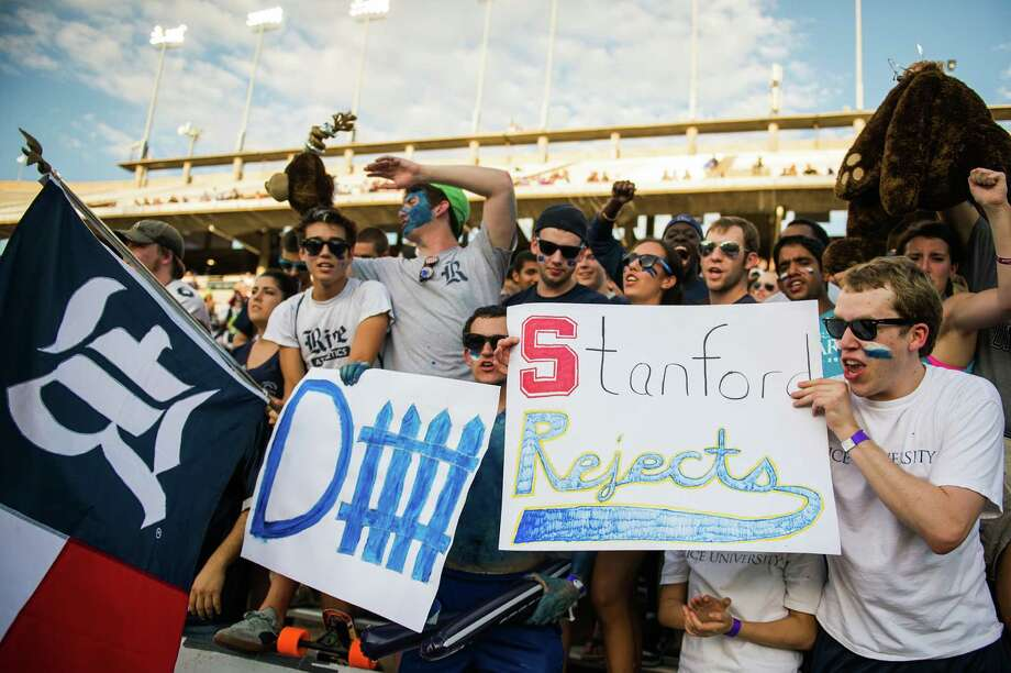 Rice students taunt the UCLA bench during the first quarter. Photo: Smiley N. Pool, Houston Chronicle / © 2012  Houston Chronicle