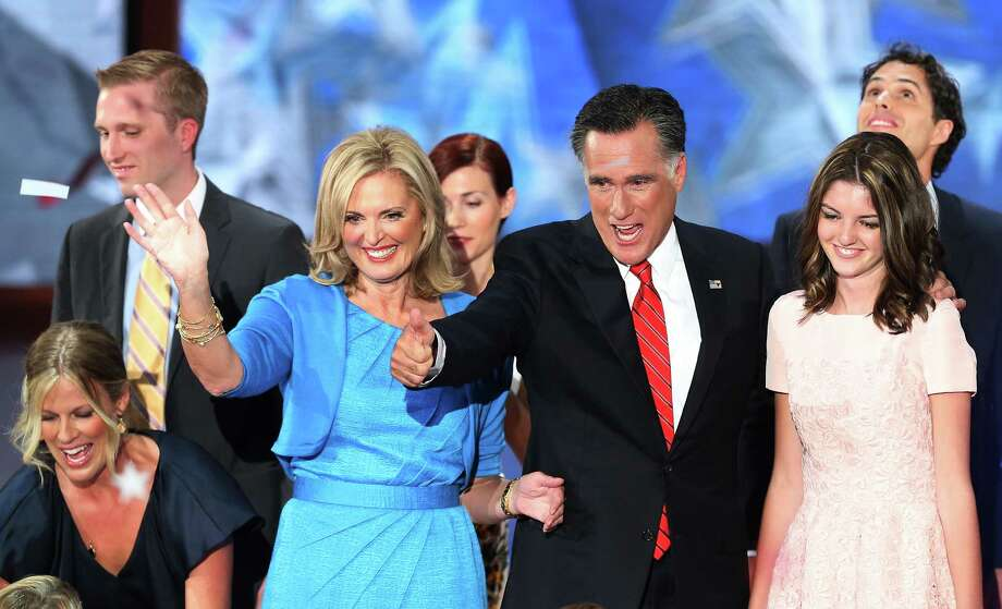 Republican presidential candidate and former Massachusetts Gov. Mitt Romney, second from right, appealed to Texans with his focus on business, school choice and energy policy during his acceptance speech. Photo: Mark Wilson / 2012 Getty Images
