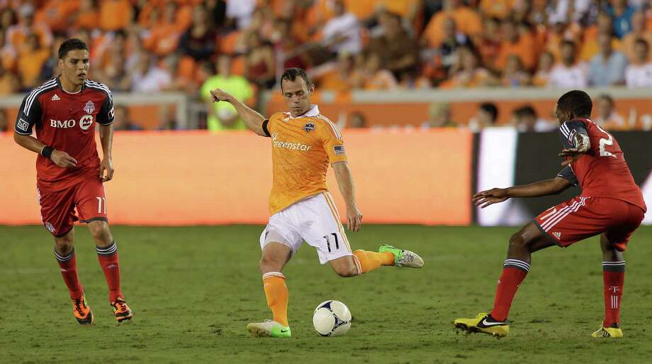 Brad Davis leads the Dynamo in assists and is second in goals. Photo: Bob Levey, Getty Images / 2012 Getty Images