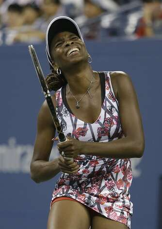 Venus Williams rallied from a 6-2 first-set loss to win the second set and came within two points of winning the match before faltering. Photo: Darron Cummings, Associated Press