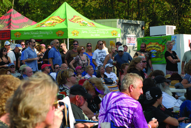 A crowd enjoys the music at a previous Blues, Views and BBQ Festival in Westport, Conn. The festivities return Saturday to Sunday, Sept. 1-2, 2012, when the festival returns to downtown Westport with a packed musical lineup, grill masters, activities for all ages and food competitions. For more information on time and entrance fees, visit www.bluesviewsbbq.com. Photo: Contributed Photo