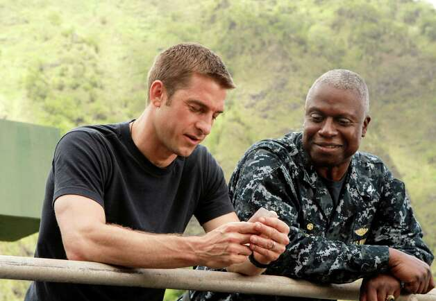 "This image released by ABC shows Scott Speedman as Sam Kendal, left, and Andre Braugher as Captain Marcus Chaplin in a scene from the series ""Last Resort, "" premiering Sept. 27, 2012 at 7 p.m.  on ABC. (AP Photo/ABC, Mario Perez) Photo: AP, HOEP / American Broadcasting Companies,"