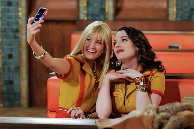 "An undated handout image of Beth Behrs, left, and Kat Dennings in ""Two Broke Girls."" on CBS. ""Two Broke Girls"" attracts the youngest audience of any CBS show except for ""How I Met Your Mother."" (Darren Michales/Warner Brothers Television) Photo: NYT, HO / WARNER BROTHERS TELEVISION"
