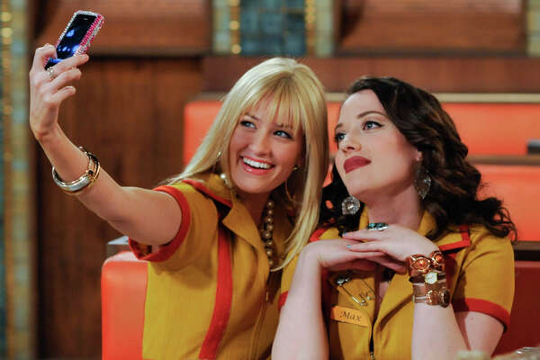 """An undated handout image of Beth Behrs, left, and Kat Dennings in """"Two Broke Girls."""" on CBS. """"Two Broke Girls"""" attracts the youngest audience of any CBS show except for """"How I Met Your Mother."""" (Darren Michales/Warner Brothers Television)"""