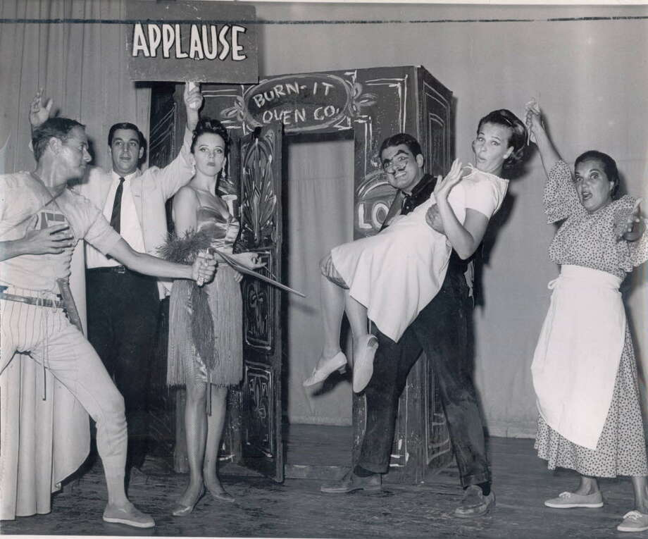 Former entertainers perform a skit at the long-defunct Lake George amusement park, Gaslight Village