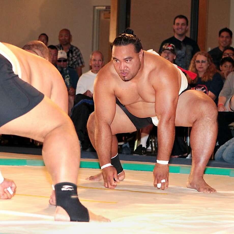 "Siosifa ""Big Joe"" I'sama'u, a U.S. Sumo Open medalist from Tonga, will participate in the sumo exhibition Saturday in Japantown. Photo: USA Sumo"