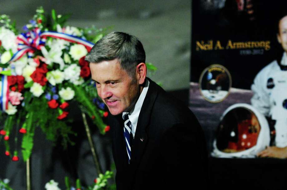 Robert Cabana director of NASA's John F. Kennedy Space Center speaks at a ceremony honoring the life of former NASA astronaut Neil Armstrong at the Apollo/Saturn V Center, August 31, 2012 in Cape Canaveral, Florida. Armstrong, the first man to walk on the moon, died from complications from heart surgery at the age of 82. Photo: Getty Images