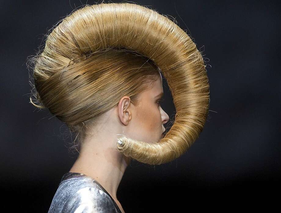 """Supercuts can do this: Just ask for the """"Bighorn Sheep."""" (Hair Fashion Show in Sao Paulo, Brazil.) Photo: Andre Penner, Associated Press"""