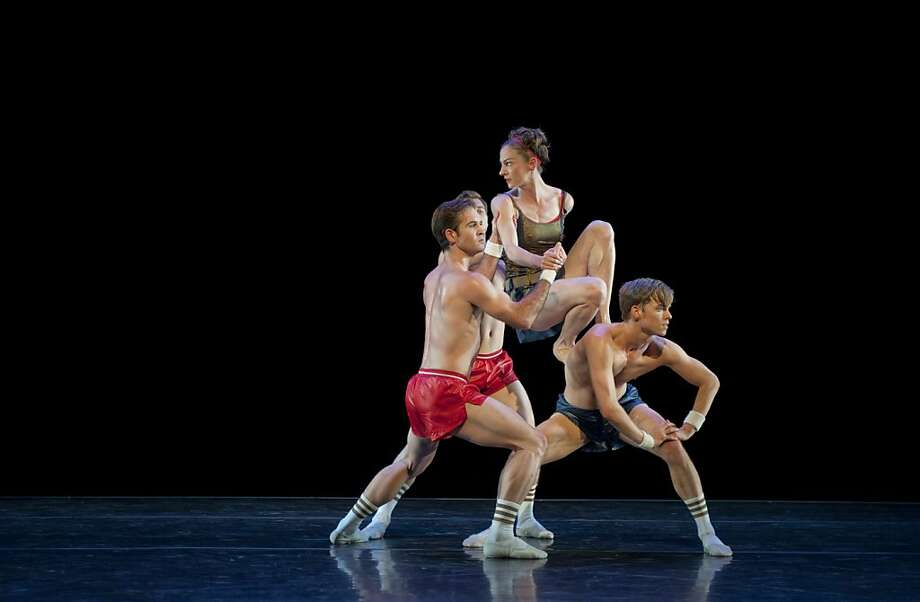 "Smuin Ballet will perform ""Oh, Inverted World"" Friday through Oct. 14 at the Palace of Fine Arts Theater. Pictured are Jonathan Powell (left), John Speed Orr, Jane Rehm and Christian Squire. Photo: Ellen Crane"