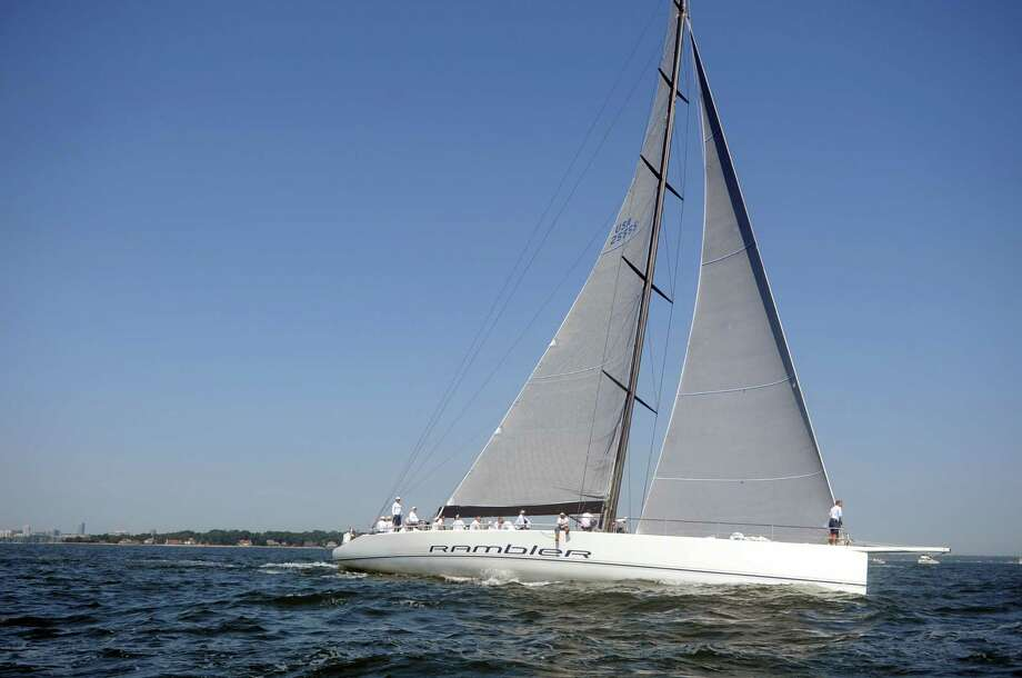 Boats compete in the 78th annual, 238-mile Vineyard Race from Stamford Yacht Club to Buzzards Bay and back on August 31, 2012.
