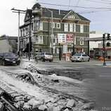 South Van Ness Street, then and now. Photo illustration by Shawn Clover.