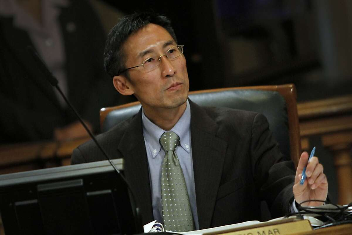 Supervisor Eric Mar during the Board of Supervisors meeting in San Francisco, Calif., Tuesday, June 19, 2012.
