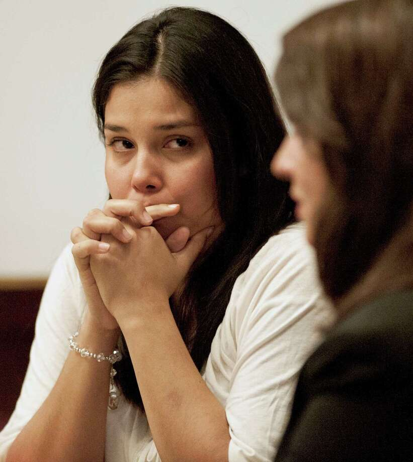 On the trial's closing day, defendant Sarah Sifuentes (left) sits with attorney Allison Lanty in 227th District Court. Photo: Darren Abate, For The Express-News