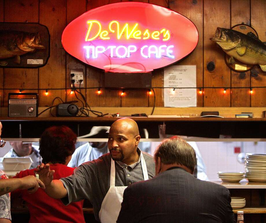 "DeWese's Tip Top Cafe was featured in the 2008 ""Comfort Food"" episode of ""Diners, Drive-In's and Dives"" with Guy Fieri."