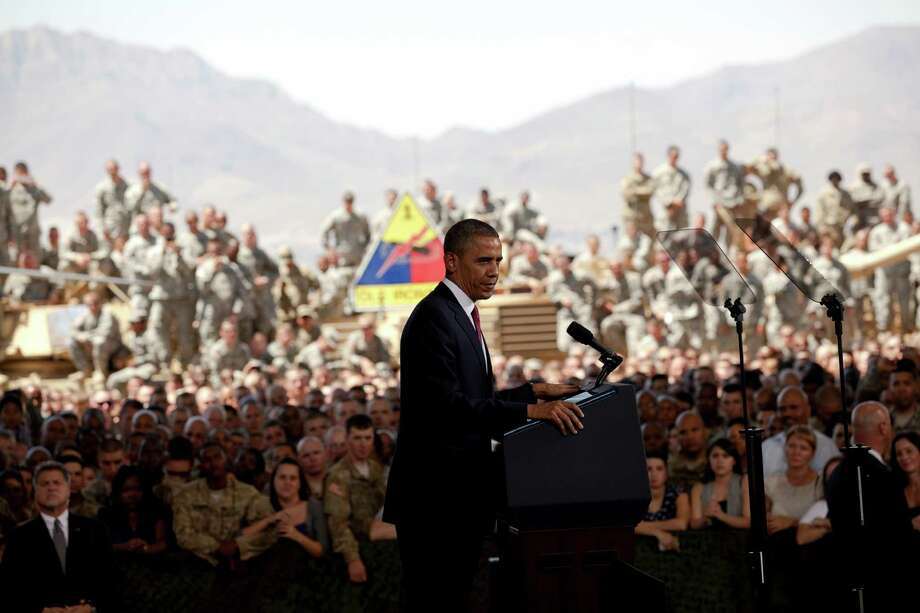 At Fort Bliss, President Barack Obama expressed support for combat-weary troops. Photo: Ivan Pierre Aguirre, San Antonio Express-News / Ivan Pierre Aguirre