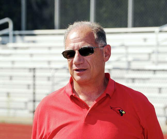 Greenwich High School Head Football Coach Rich Albonizio during photo day for the Greenwich High Sch