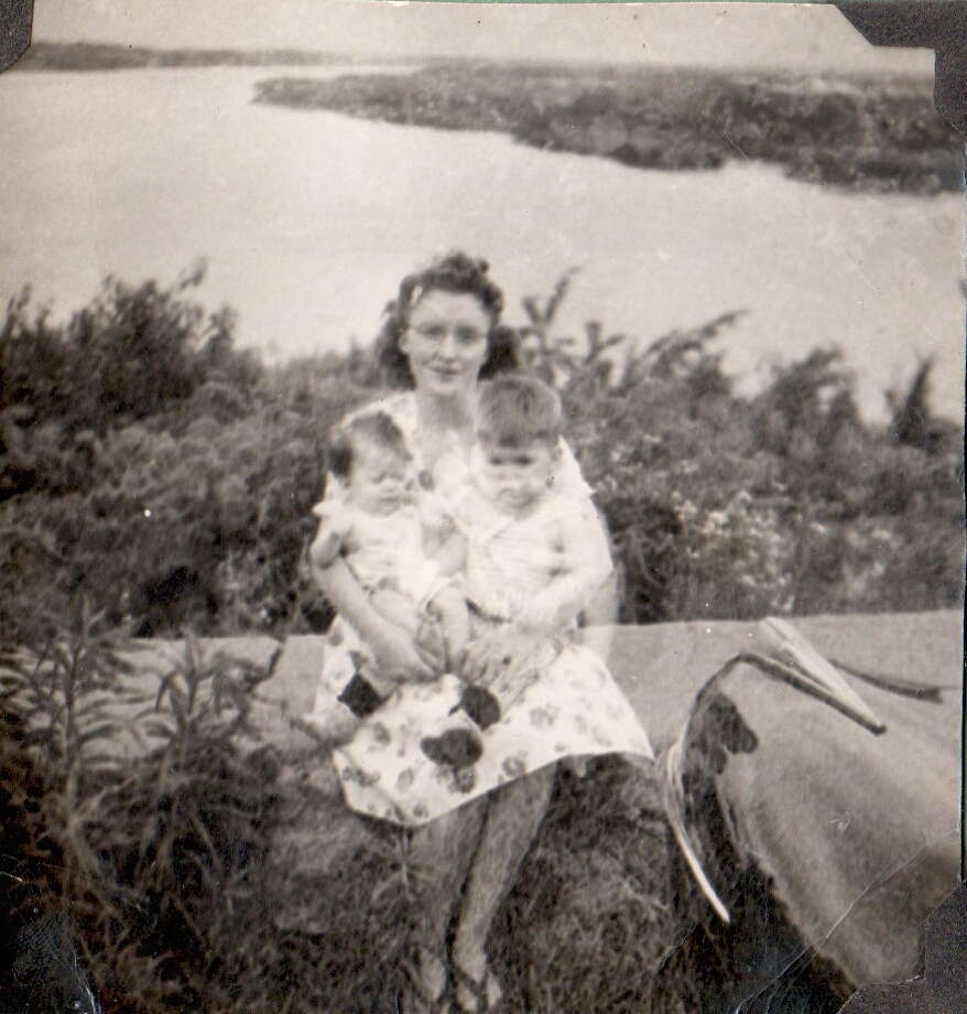 1947: Susan Oswald James and  Gregory S. Oswald with mother Velma S. Oswald Photo: Courtesy