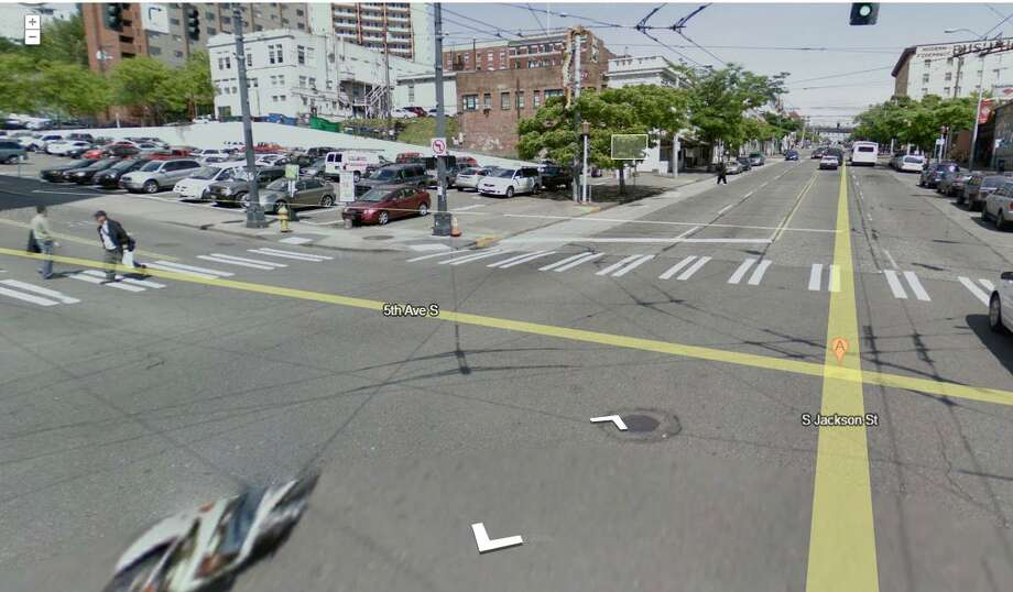 Fifth Avenue South and South Jackson Street: 5 collisions, one of which was fatal in 2009, in the International District. Photo: Google Street View