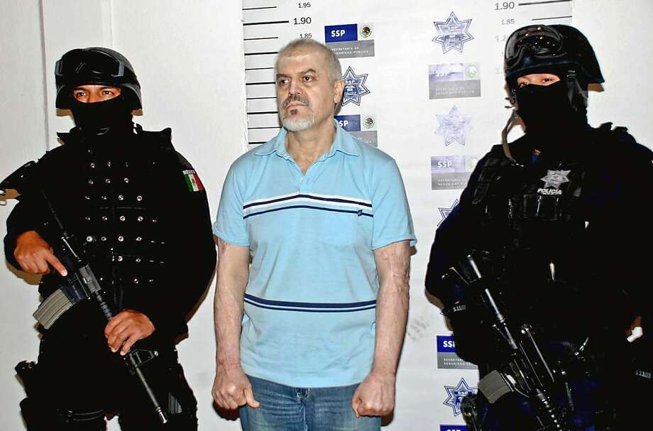 Eduardo Arellano Felix, shown soon after his 2008 arrest, has been extradited by Mexico to the United States. Photo: Ho, AFP/Getty Images
