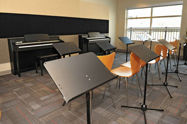 The sound proof music practice room in the brand new College Suites at Washington Square Friday, Aug. 31, 2012 in Schenectady, N.Y. Schenectady County Community College (SCCC) students move in today. (Lori Van Buren / Times Union) Photo: Lori Van Buren