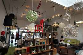 Propeller, at 555 Hayes St offers a verity of chandeliers and furniture. San FranciscoÕs Hayes Street between 327 and 580 is fast becoming a destination for shoppers looking for custom and collectible furniture and home accessories in San Francisco Calif., Wednesday, July 11, 2012.