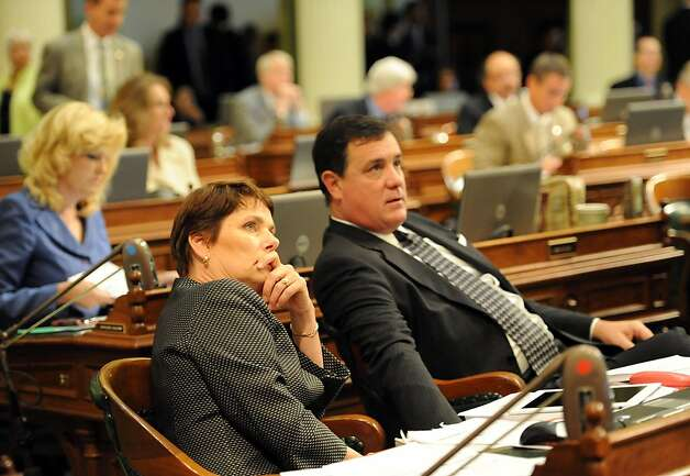 Aseembly Members Beth Gains and Donald Wagner are seen durring session in Sacramento on August 31, 2012. The Legislature met for its final day of the two-year legislative session. Photo: Susana Bates, Special To The Chronicle