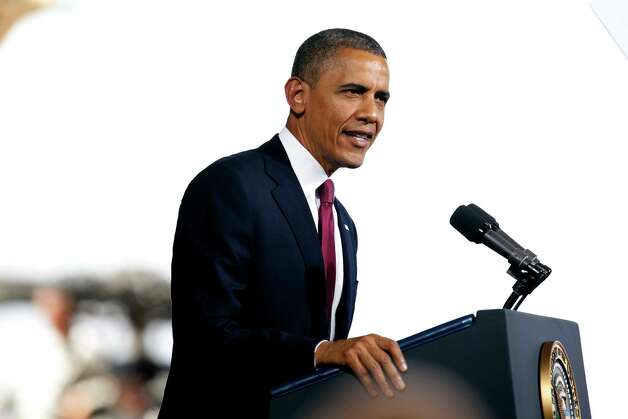 President Barack Obama addresses about 5,000 troops at Fort Bliss Military Installation on Friday August 31, 2012. The president met privately with service members and their families and 