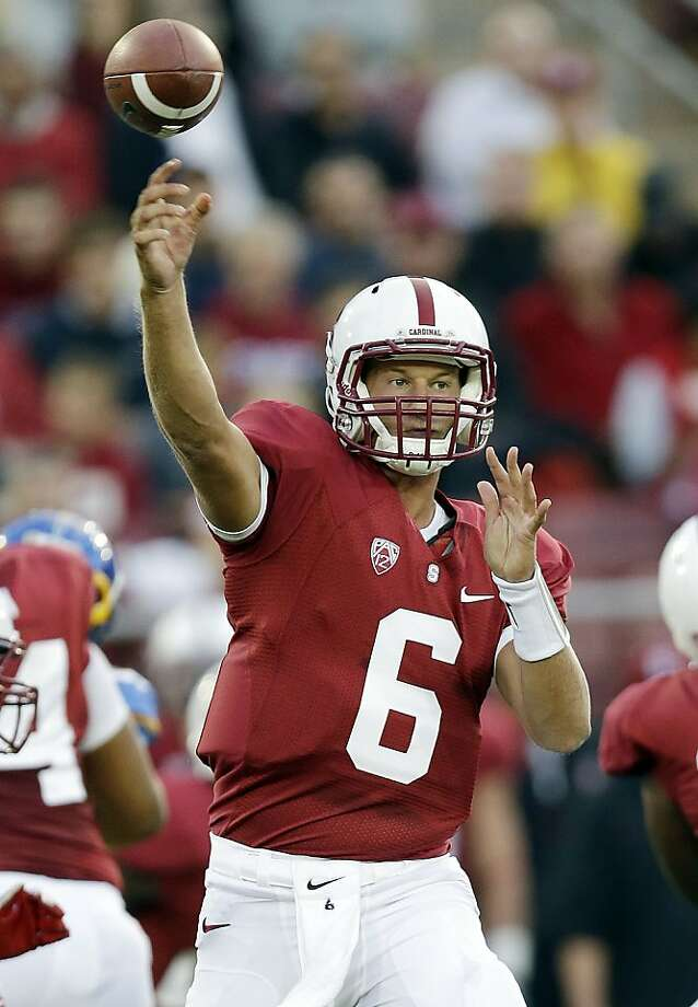 Stanford quarterback Josh Nunes (6) throws against the San Jose State during the first half of an NCAA college football game in Stanford, Calif., Friday, Aug.  31, 2012. (AP Photo/Marcio Jose Sanchez) Photo: Marcio Jose Sanchez, Associated Press
