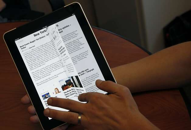Flipboard's sleek newsreader quickly became one of the iPad's hottest apps. Photo: Paul Chinn, The Chronicle