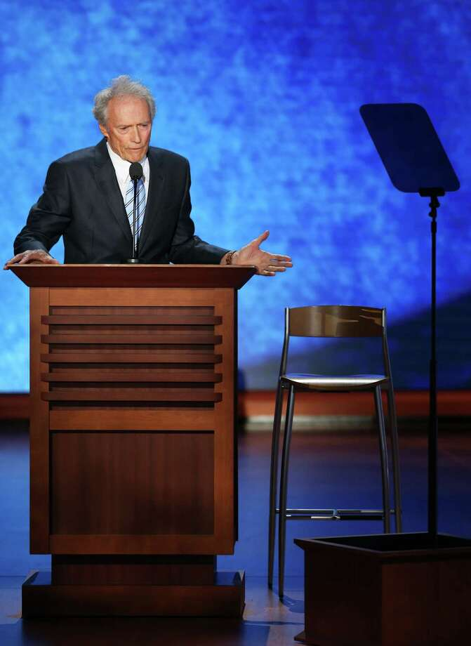 Actor/Director Clint Eastwood speaks during the final day of the Republican National Convention at the Tampa Bay Times Forum on August 30, 2012 in Tampa, Florida. Photo: Mark Wilson, Getty Images / 2012 Getty Images