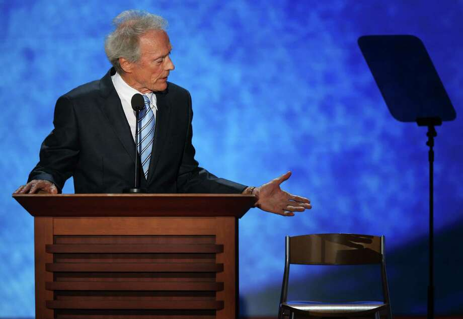 """Eastwooding,"" or posing with an empty chair as Clint Eastwood did, has quickly become part of the vernacular, thanks to social media. Photo: Mark Wilson, Getty Images / 2012 Getty Images"