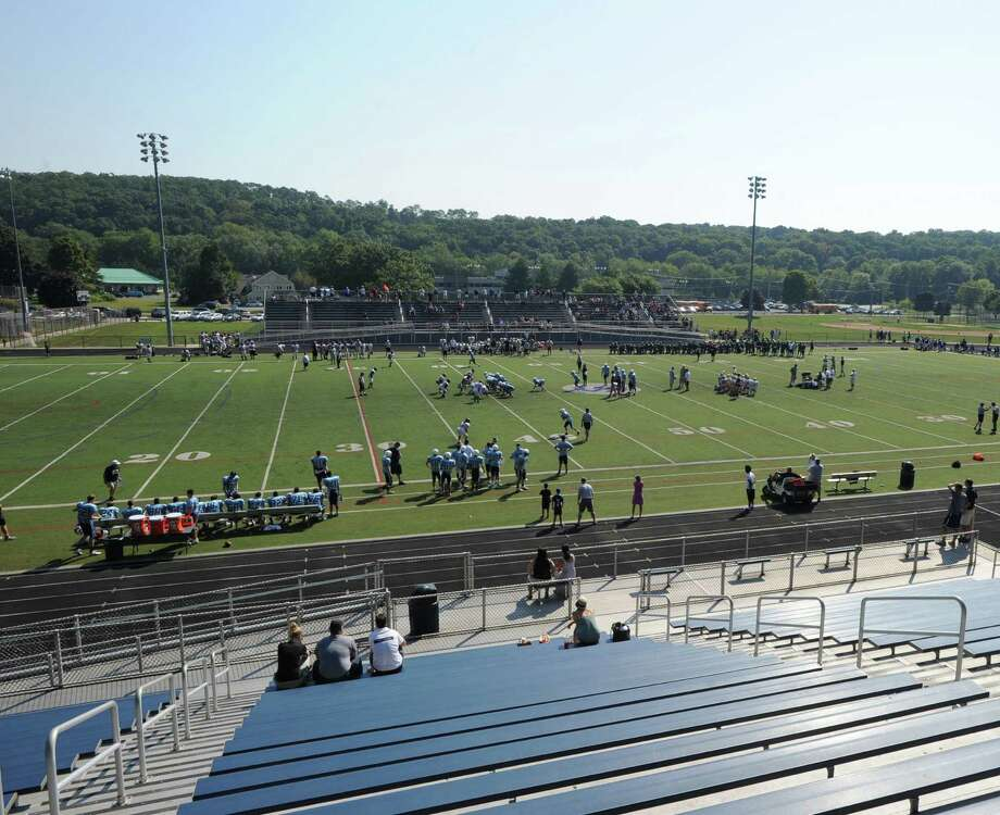 The high School football jamboree at Wilton High School, Saturday morning, Sept. 1, 2012. Photo: Bob Luckey / Greenwich Time