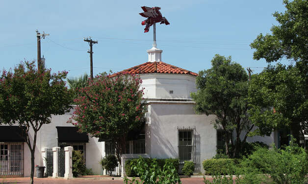 This is the old Mobil gas station at 5424 Broadway at the corner of Austin Highway. The classic building is still topped with its red, neon adorned Pegasus and has been occupied by various retailers since closing operations as a filling station. Photo: John Davenport, San Antonio Express-News / San Antonio Express-News