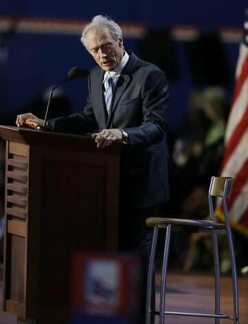Clint Eastwood's conversation with an empty chair wasn't quite what the Romney camp had in mind. Photo: Lynne Sladky, Associated Press