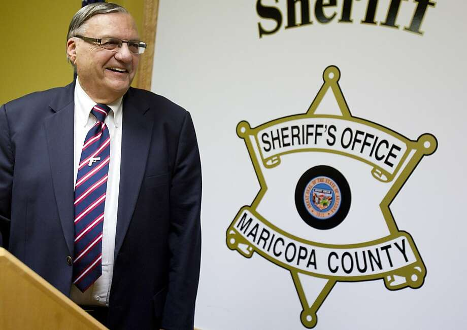 Joe Arpaio, sheriff of Maricopa County, won't face federal abuse-of- power charges. Photo: Dave Seibert, Associated Press