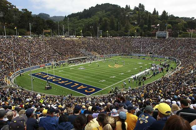 A capacity crowd of 63,000 watches as Cal takes on Nevada in the Bears' first game at Berkeley's Memorial Stadium after a $321 million renovation. Photo: Paul Chinn, The Chronicle