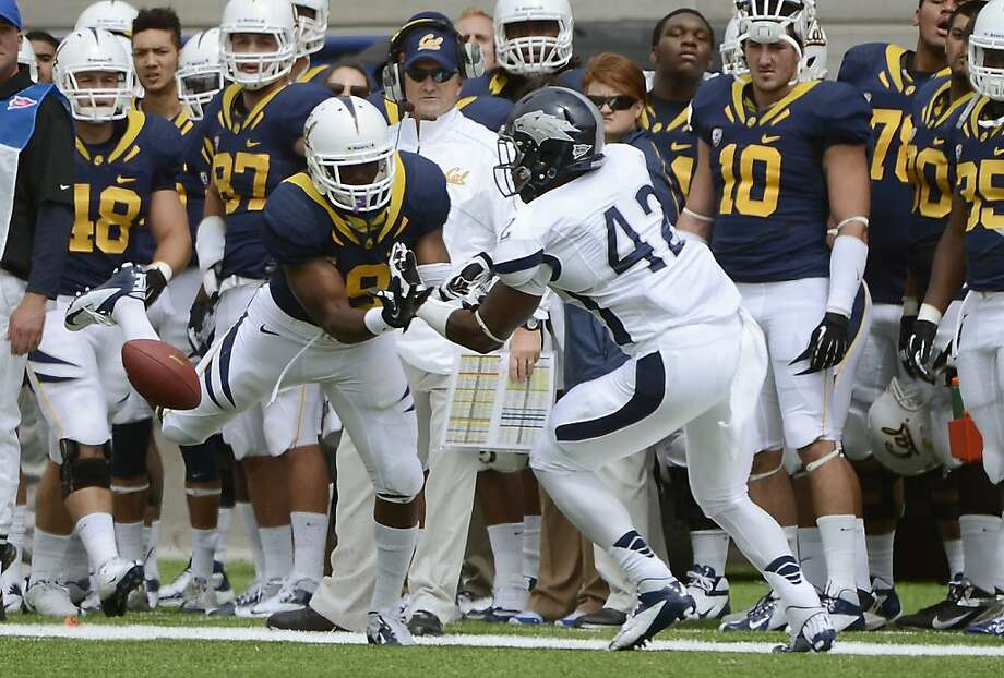 BERKELEY, CA - SEPTEMBER 01:  DeAndre  Boughton #42 of Nevada breaks up the pass to C.J. Anderson #9 of California in the first quarter of an NCAA football game between the Nevada Wolf Pack and the California Golden Bears at California Memorial Stadium on September 1, 2012 in Berkeley, California.  (Photo by Thearon W. Henderson/Getty Images) Photo: Thearon W. Henderson, Getty Images