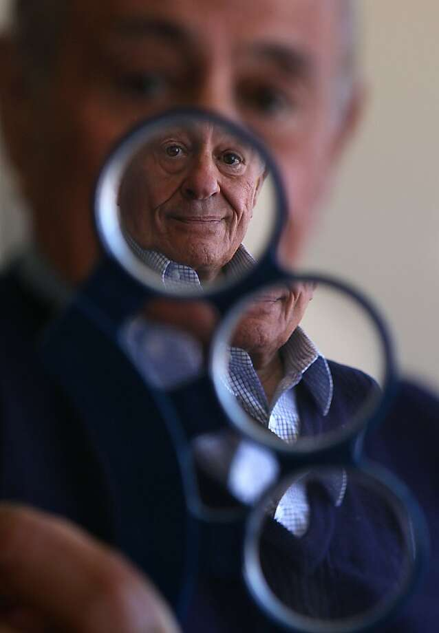Maurice Kanbar designed eyeglasses that cost 75 cents. Photo: Liz Hafalia, The Chronicle