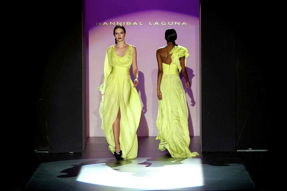 Models walk the runway in the Hannibal Laguna fashion show. Photo: Carlos Alvarez, Getty Images / 2012 Getty Images