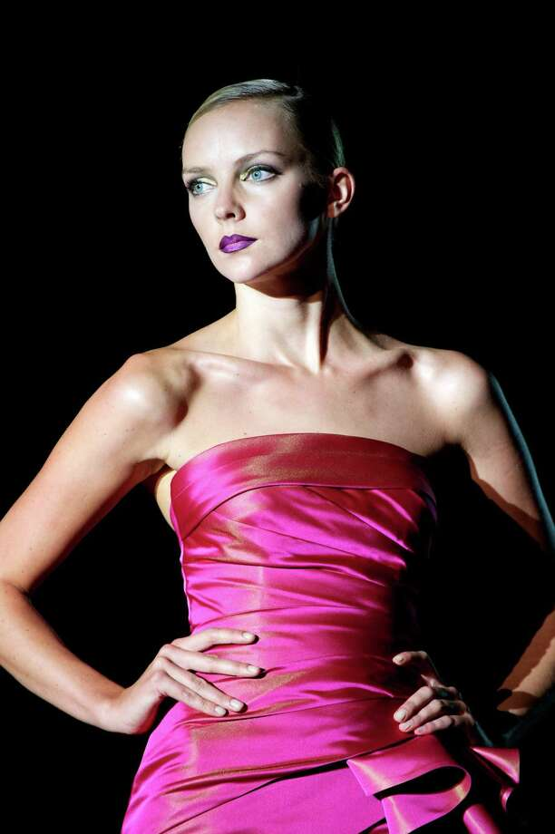 A model walks the runway in the Hannibal Laguna fashion show. Photo: Carlos Alvarez, Getty Images / 2012 Getty Images