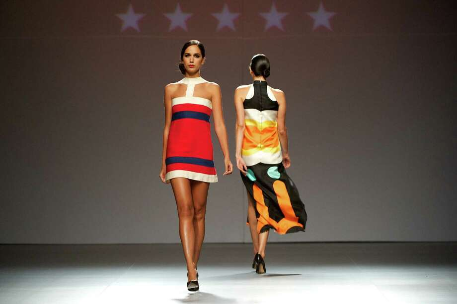 Models walk the runway in the fashion show of Mahou Collection 1960-2012 By Elio Berhanyer. Photo: Carlos Alvarez, Getty Images / 2012 Getty Images