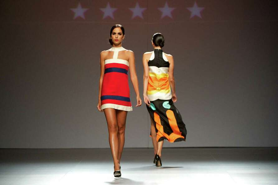 Models walk the runway in the fashion show of Mahou Collection 1960-2012 By Elio Berhanyer.
