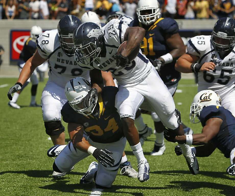 Nevada's Stefphon Jefferson can't be stopped by the Bears' defense in Cal's 31-14 loss to the Nevada Wolfpack at the renovated Memorial Stadium in Berkeley, Calif. on Saturday, Sept. 1, 2012. Photo: Paul Chinn, The Chronicle